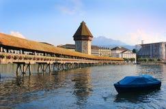 Chapel Bridge, Lucerne, Switzerland stock image