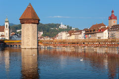 Chapel Bridge in Luzern Royalty Free Stock Image