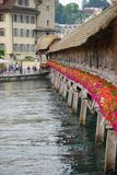 Chapel Bridge, Luzern Stock Photos