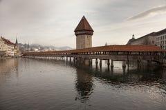 The Chapel Bridge in Luzern Lucerne, Switzerland. Stock Images