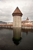 The Chapel Bridge in Luzern Lucerne, Switzerland. Royalty Free Stock Image