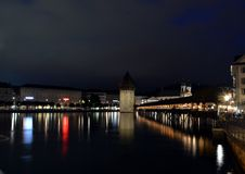 Chapel bridge in Luzern Royalty Free Stock Photos