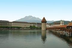 Chapel Bridge, Luzern, Switzerland Royalty Free Stock Images
