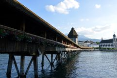 Chapel bridge in Luzern Royalty Free Stock Photo