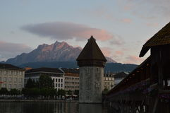 Chapel bridge in Luzern Stock Image