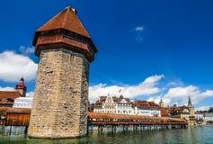 Chapel Bridge, Luzerne, Switzerland Royalty Free Stock Image