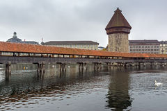 Chapel Bridge over Reuss River, Lucerne Stock Image