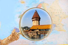Chapel Bridge, Switzerland Stock Photo