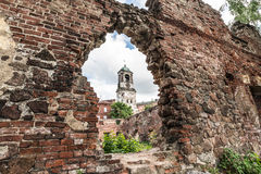 Chapel. The chapel through the broken bomb wall, the ruins of the past, historical architecture Royalty Free Stock Photography