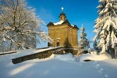 Chapel in Broumov Walls Royalty Free Stock Image
