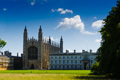 The Chapel of Cambridge. The Chapel of King's College in Cambridge, England. Built by Henry VI Royalty Free Stock Image