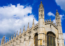 The Chapel of Cambridge. The Chapel of King's College in Cambridge, England. Built by Henry VI Stock Image