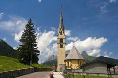Chapel in Canazei Stock Image