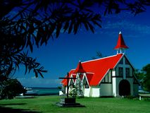 Chapel, Cap Malheureux, Mauritius Stock Photo