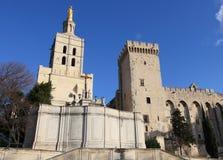 Chapel and castle, Avignon Stock Images