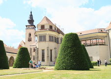 Chapel of castle in Telc royalty free stock photography
