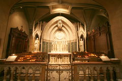 Chapel in Cathedral. Chapel in Saint Patrick's Cathedral, New York City Stock Images