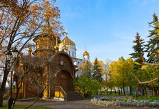 Chapel in Cathedral of Christ the Savior - Moscow Russia Stock Photo