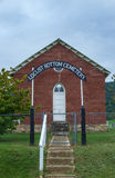 Chapel in a Cemetery. Chapel at Locust Bottom Cemetery in Southern Shenandoah Valley, Virginia Stock Images