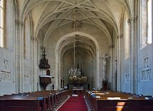 Chapel Chateau Lednice. Lednice castle is a part of Lednicko-valtický area, natural complex reaching almost 300km2 Royalty Free Stock Images