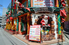 Chapel Christmas Love Hotel. A Christmas themed love hotel in Osaka, Japan. Love hotels are operated for the purpose of allowing couples privacy for sexual Royalty Free Stock Photography