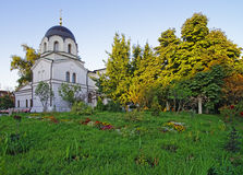 Chapel and churchyard in Conception convent in Moscow Royalty Free Stock Image