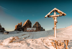 Chapel in Cime National Park, Dolomites, Italy Royalty Free Stock Photography
