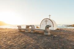 Chapel at the coast at dusk Stock Photography