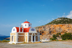 Chapel on the coast near Pacheia Ammos on Crete. Beautiful chapel on the coast near Pacheia Ammos on Crete, Greece Royalty Free Stock Photography