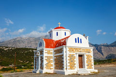 Chapel on the coast near Pacheia Ammos on Crete Stock Image