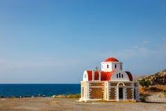 Chapel on the coast near Pacheia Ammos on Crete Stock Photo