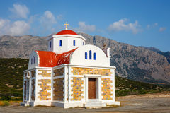 Chapel on the coast near Pacheia Ammos on Crete Royalty Free Stock Photos