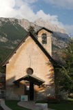 Chapel in cortina - dolomite Royalty Free Stock Photos