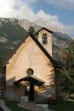 Chapel in cortina - dolomite Royalty Free Stock Photos
