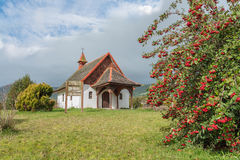 Chapel in the countryside near Puerto Varas, Chile Royalty Free Stock Photography