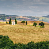 Chapel on countryside, Tuscany, Italy Royalty Free Stock Photos