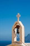 Chapel in Crete. Bell of a chapel against the sky in Crete, Greece Royalty Free Stock Photos