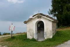 Chapel at Croce dei Cardini Royalty Free Stock Images
