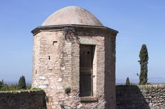 A chapel and crypt with a dome. Spello, Umbria, Italy Royalty Free Stock Photo