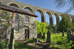 Chapel and Cynghordy Viaduct Royalty Free Stock Image