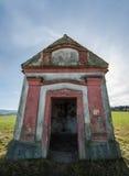 Chapel in Czech Republic. Beautiful small baterred chapel in Czech Republic, highlands, Pelhřimov city stock photos