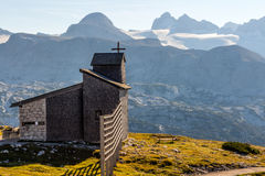 Chapel at the Dachstein on the path to the Five Fingers viewing platform royalty free stock photos