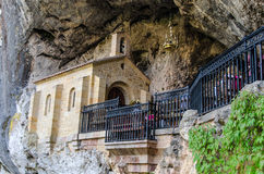 Chapel dedicated to la santina in holy cave of covadonga Stock Photography