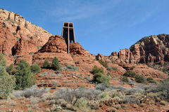 Chapel in desert Stock Photography