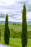 Chapel di Vitaleta, Tuscany. This picture was taken at the entrance to Pienza Tuscany Royalty Free Stock Photography