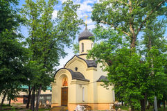 The chapel of Dmitry Donskoy outside the Eastern wall of the Andronikov monastery. Moscow. Stock Photography