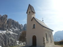 Chapel in the Dolomites Stock Image