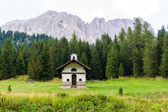 Chapel in the Dolomites Royalty Free Stock Photo