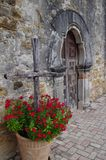 Chapel door at Mission Espada Royalty Free Stock Images