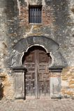 Chapel door at Mission Espada Stock Photo